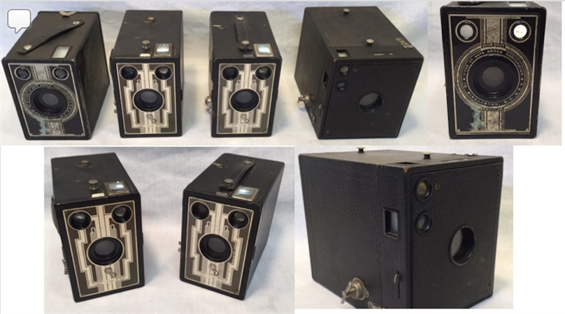 FOR SALE NOW! Four Vintage Brownie Cameras